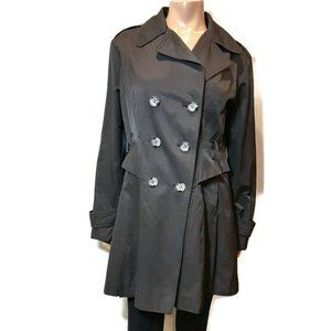 Guess Double Breasted Trench Coat Miliary Jacket